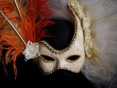 Máscara Veneciana, antifaz época victoriana, gala.