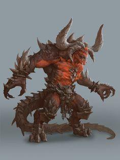 Abaddon Uno de los 5 patrones infernales el mas fuerte de ellos a pesar de no ser muy inteligente es buen estratega y con una fuerza demoníaca implacable Peligro 14