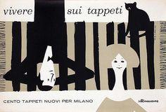 By Lora Lamm (Born 1928), Vivere sui tappeti, Milano, 1959, la Rinascente. (I)