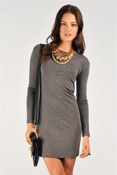 love a long sleeve mini dress! under $25.00!