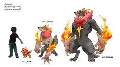 fakemon: fire-type starter by twisted-wind.deviantart.com on @DeviantArt
