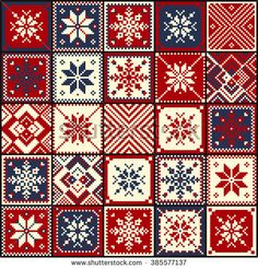 Find Christmas Background Quilt Snowflakes Seamless Pattern stock images in HD and millions of other royalty-free stock photos, illustrations and vectors in the Shutterstock collection. Celtic Cross Stitch, Xmas Cross Stitch, Cross Stitching, Cross Stitch Designs, Cross Stitch Patterns, Quilt Patterns, Fair Isle Knitting Patterns, Knitting Charts, Embroidery Hearts