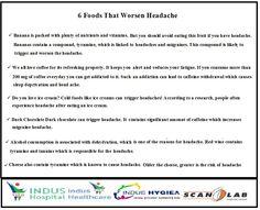 6 Foods That Worsen Headache...