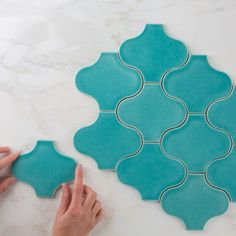 Handmade tiles - Handmade Fishscale Tile Manufacturer from New Delhi Tile Patterns, Textures Patterns, Fireclay Tile, Clay Tiles, Shower Panels, Handmade Tiles, Decorating On A Budget, Islamic Art, Decoration