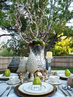 Unconventional Holiday Tablescape