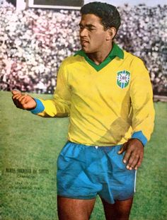 "Manuel Francisco dos Santos (October 28, 1933 – January 20, 1983), known by the nickname ""Garrincha"" (Portuguese pronunciation: [gar:ĩ´ʃa],""little bird""), was an association football right winger and forward who helped the Brazil national team win the World Cups of 1958 and 1962. He played the majority of his professional career for Brazilian club Botafogo."