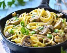 Spaghetti ai Funghi - -  Frische Champignons und leckere Spaghetti: Eine Kombination mit einem wundervollen Aroma.