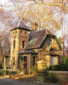 Stone cottage in Newport, Rhode Island, USA