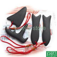 30.00$  Buy here - http://ali7o4.shopchina.info/1/go.php?t=725049627 - Wholesale & Retail Traditional Acupuncture Massager Guasha tool Natural Black Bian stone 4pcs/set(3pcs guasha plate+1pcs cone) 30.00$ #shopstyle