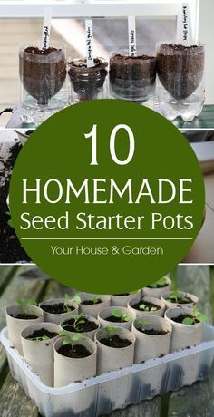 Homemade Seed Starter Pots DIY seed pots that can be made from items you probably have in your recycle bin right now.DIY seed pots that can be made from items you probably have in your recycle bin right now.