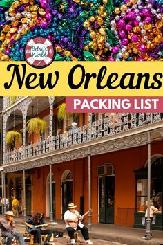 Headed to New Orleans on your next vacation? Don't forget to pack the necessities! Here you will find everything you need to pack for a vacation to New Orleans! New Orleans Vacation, Visit New Orleans, New Orleans Travel, Packing List For Vacation, Packing Tips, Vacation Ideas, Travel And Leisure, Travel Tips, Travel Packing