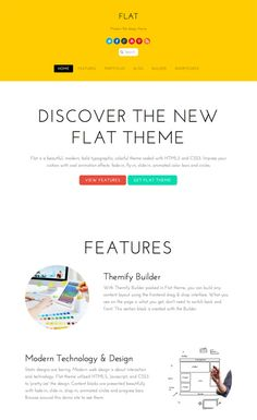 Flat theme is beautiful, modern, bold and colorful. Modern web design is about interaction and technology. Flat theme utilized HTML5, Javascript, and CSS3 to display the content beautifully.