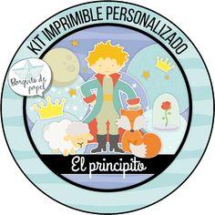 Kit imprimible personalizado + Candy bar PRINCIPITO + completo www.bonveler.com