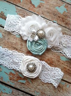 wedding garter / Tiffany Blue / bridal  garter/  lace garter / toss garter / Something blue wedding  garter /