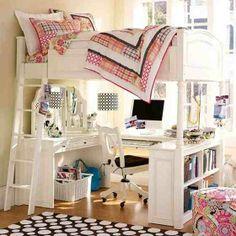 Perfect. Ik wil graag een Ikea hoogslaper twijfelaar, en dit is zo'n leuke setup!