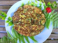 A zucchini frittata - for work lunch.