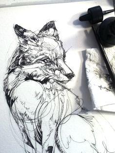 Fox Flow, inking progress.