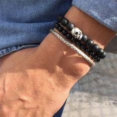 Harley Davidson ® Noir Mat Lien Chaîne Statement Bracelet Hommes//Femmes