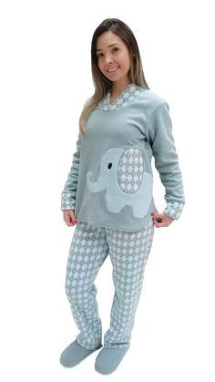 8f353db5d Pijama perfeito para o inverno! Malha de soft e bordado feito à mão de um
