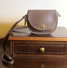 Coach Watson Bag In Taupe Leather with Crossbody Tubular Strap- Very Nice -EUC…