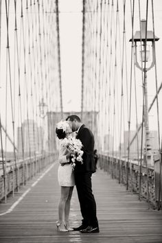 A NYC wedding. I'd love such a timeless picture...