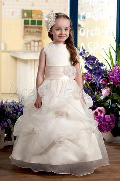 $80.89 Dresswe.comサプライ品かなりの夜会服バトーに結んだ足首までの長さの花飾るフラワーガールドレス