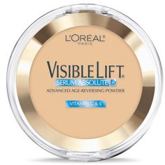 Visible Lift Serum Absolute Advanced Age-Reversing Powder face makeup by L'Oreal Paris. Anti-aging makeup foundation powder controls shine & promotes younger-looking skin.
