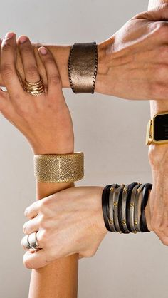 Cuffs are wearable GPS bracelets that, when connected to other devices worn by loved ones, will vibrate when the wearer presses a button