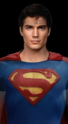 Ideal Superman. Superman's face morphed from all of the actors who have played him.