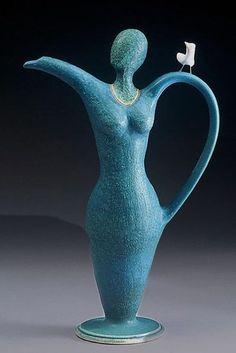 """""""Birdy for tea"""" teapot - Cathy Broski (stoneware)"""