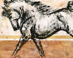 Modern Equine art is a thing. Donna Bernstein loved horses as a girl but couldn't own one. So she created her dream horses on paper. Now she inspires art lovers with her horse art via canvas, jewelry, and sculpture.