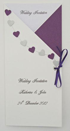 Personalised Wedding Stationery – Purple Theme | Carol Miller Designs- wedding stationery showcase