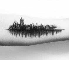 New York City tattoo by Balazs Bercsenyi