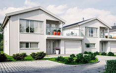 Nyt utsikten med stolpefritt glassrekkverk - Byggmakker Home Fashion, Cottage, Cabin, Mansions, House Styles, Home Decor, Decoration Home, Manor Houses, Room Decor