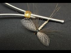 Spent Mayfly with Wally wing (dry fly) - YouTube