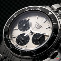 Equipped with a 42 mm case and a new chronograph movement, the new Heuer Autavia Calibre Heuer-02 Jack Heuer Limited Edition respects all aesthetic codes yet suits the contemporary man. #DontCrackUnderPressure #TAGHeuerIsHeritage #HeuerAutavia #CalibreHeuer02 Discover the watch at: http://tag.hr/AutaviaHeuer02