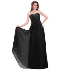 Elegant Sweetheart A-line Floor Length Beaded Chiffon Evening Dress (Custom-made, Black) Lemandy http://www.amazon.co.uk/dp/B00G8YRE1A/ref=cm_sw_r_pi_dp_s1kiwb0R7XM6S