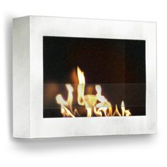 The clean, geometric, sophisticated design of the wall mount SoHo ethanol fireplace of the Anywhere Fireplace™ is a stunning addition to any room. It works with any décor.