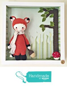 Crochet Fox Box Frame Picture from Pixie Crafts