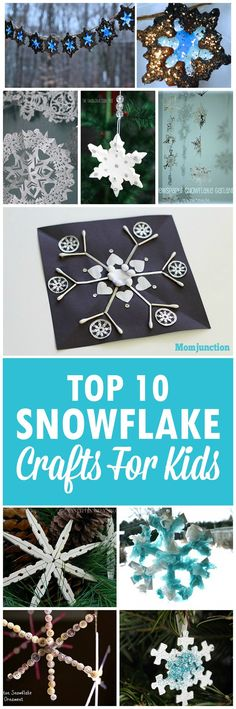 Top 10 Snowflake Crafts For Kids: Let your child bring the fun of snow indoors with our terrific collection of snowflake crafts.