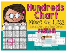 Foxwell Forest: Hundreds Chart More or Less Song and Freebie {Tricks & Tips for Teachers Weekly Linky} Math Classroom, Kindergarten Math, Teaching Math, Maths, Go Math, Math Help, Math Resources, Math Activities, Teacher Worksheets