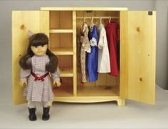 19-W3432 - Doll Armoire Woodworking Plan.