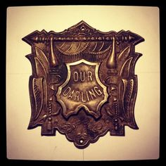 Our Darling Victorian Pressed Tin Coffin Plaque (Taken with Instagram)