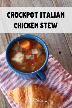 Crockpot Italian Chicken Stew is a hearty, creamy, soup that makes your insides feel warm and cozy on a cool fall or winter night. Perfect for gathering friends, taking to a loved one or sharing together as a family. Italian Stew, Italian Chicken, New Recipes, Soup Recipes, Frozen Garlic Bread, Frozen Vegetables, Cooking Together, Frozen Chicken, Soups And Stews