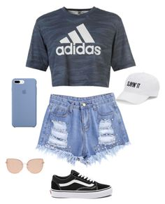 """""""Untitled #131"""" by sarrabaccouch on Polyvore featuring adidas, Vans, Topshop and SO"""