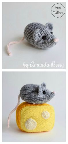 Nibbles the Mouse Free Knitting Pattern