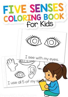 Five Senses Coloring Book | From ABCs to ACTs