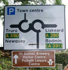 Roundabout St. Austell, Cornwall Have been around this many times
