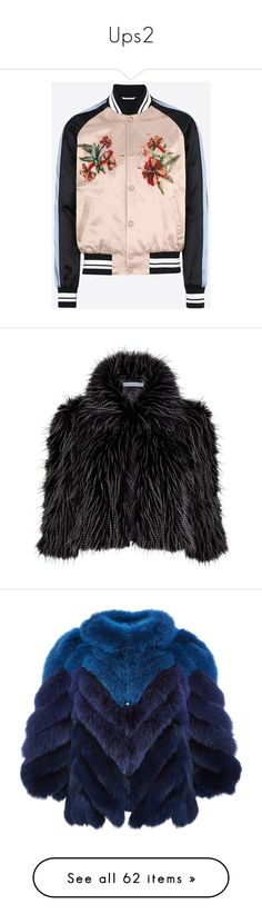 """""""Ups2"""" by zemaasg ❤ liked on Polyvore featuring outerwear, jackets, valentino jacket, embroidered jacket, pink jacket, embroidery jackets, fur, coats, draped collar jacket and gina bacconi"""
