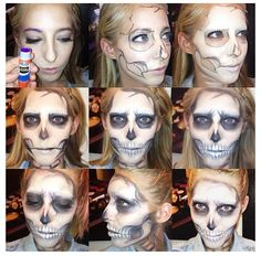 [  http://www.pinterest.com/toddrsmith/boo-who-adult-halloween-ideas/  ]  - ideas - Skeleton makeup